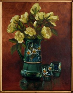 Antique Water Pitcher and Glasses WC.jpg